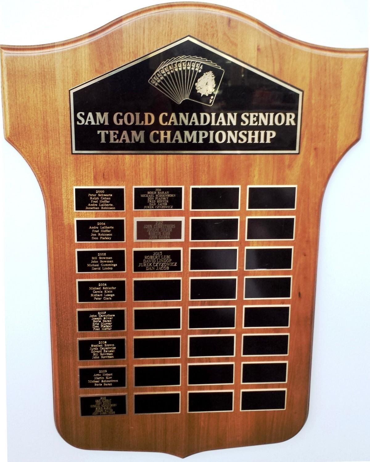 CSTC Sam Gold Plaque
